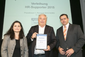 Hamburg, 07.05.2015 Thema: PERSONAL 2015 Nord - 5. Fachmesse für Personalmanagement Foto: HR Supporter Award 2015 © Dirk Eisermann